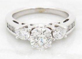 1.34ctw Diamond Ring - 14kt White Gold