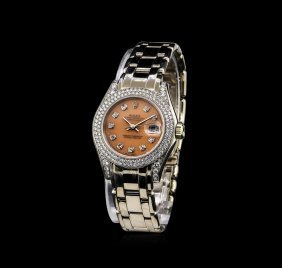 Rolex 18kt White Gold 1.44ctw Diamond Masterpiece