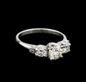 Egl Usa Cert 1.40ctw Diamond Ring - Platinum