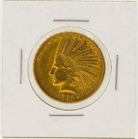 1911 $10 Au Indian Head Eagle Gold Coin