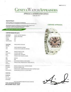 Cartier Stainless Steel Roadster 2675 Watch