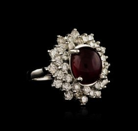 14kt White Gold 6.05ct Ruby And Diamond Ring