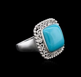 14kt White Gold 7.27ct Turquoise Ring