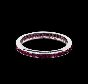 1.00ctw Ruby Ring - 14kt White Gold
