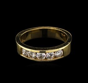 0.76ctw Diamond Ring - 14kkt Two-tone Gold