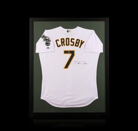 Bobby Crosby Framed Autographed Jersey