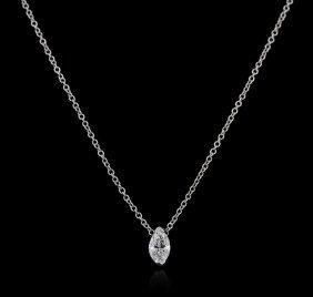 14kt White Gold 0.31ct Diamond Necklace