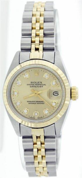 Rolex Two-tone Datejust Ladies Watch