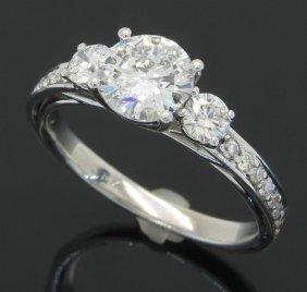 1.55ctw Diamond Ring - 14kt White Gold