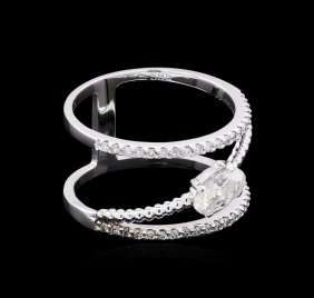 0.99ctw Diamond Ring - 14kt White Gold
