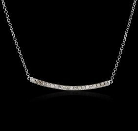 14kt White Gold 0.84ctw Diamond Necklace