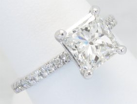 Gia Cert 2.32ctw Diamond Ring - Platinum