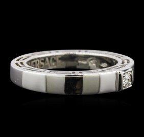 Versace 0.12ct Diamond Ring - 18kt White Gold