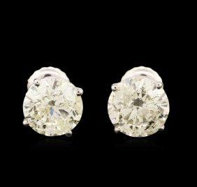 14kt White Gold 2.95ctw Diamond Stud Earrings