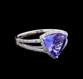 2.24ct Tanzanite And Diamond Ring - 14kt White Gold