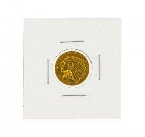 1926 $2.50 Cu Indian Head Quarter Eagle Gold Coin