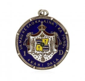 1883 Hawaii Silver Dollar Coin + Medallion