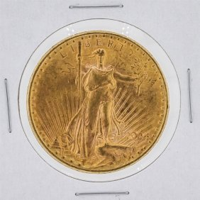 1924 $20 Cu St. Gaudens Double Eagle Gold Coin