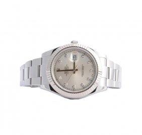 Rolex Stainless Steel Diamond Datejust Ii Men's Watch