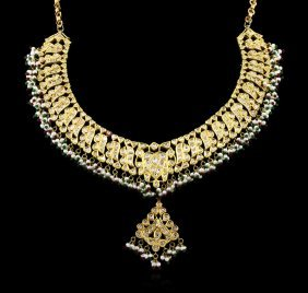 9.48ctw Multi Gemstone And Diamond Jewelry Suite - 21kt