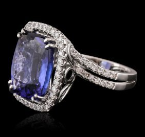 18kt White Gold Gia Certified 10.65ct Tanzanite And