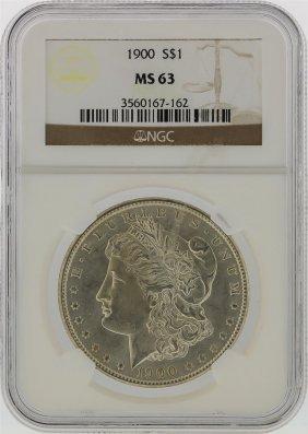 1900 Ngc Ms63 Morgan Silver Dollar