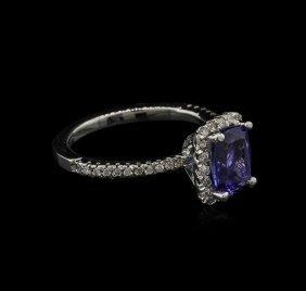 1.60ct Tanzanite And Diamond Ring - 14kt White Gold