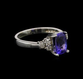1.74ct Tanzanite And Diamond Ring - 14kt White Gold