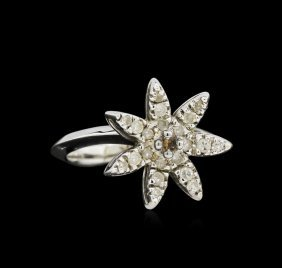 14kt White Gold .42ct Diamond Starfish Ring