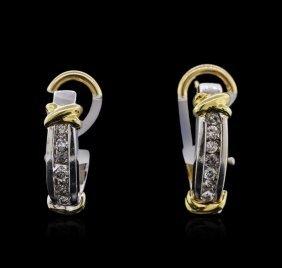 14kt Two-tone Gold 0.22ctw Diamond Earrings