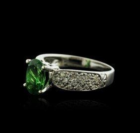 14kt White Gold 2.50ct Tsavorite And Diamond Ring