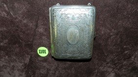 Antique German Silver Hand Chased Compact Case