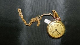 Wonderful Antique Gold (plated) Pocket Watch With