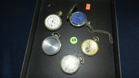 Great Collection Of Estate Pocket Watches With One