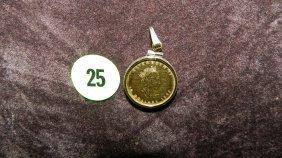 Nice Cadana Gold Coin In (14KT) Gold Bezel