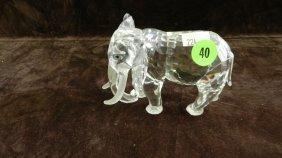 Great Marked Swarovski Crystal Elephant Figurine No