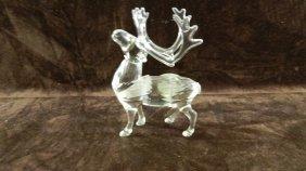 Great Marked Swarovski Crystal Reindeer Figurine No