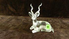 Great Marked Swarovski Crystal Deer Figurine No Box