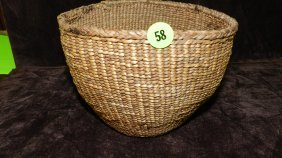 Authentic Native American Handmade Woven Basket / B