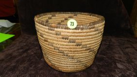 Authentic Native American Handmade Woven Basket, Pi