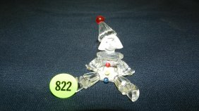 Great Stamped Swarovski Crystal Clown Figurine
