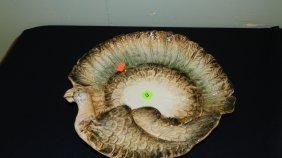 Porcelain Turkey Shaped Platter