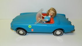 Mid Century Toy Car With Doll