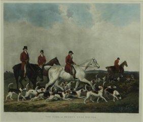 Hunt Scene Engraving