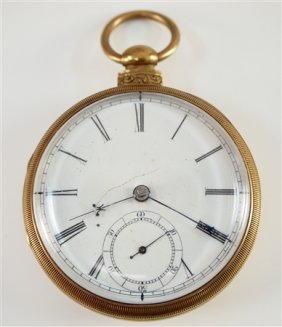 18k London Fusee Pocket Watch