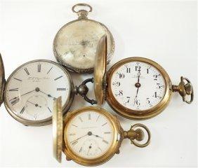 4 Swiss/english Pocket Watches