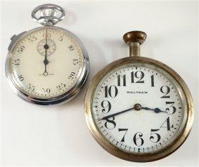 "Waltham Stopwatch And ""traveler"" Clock"
